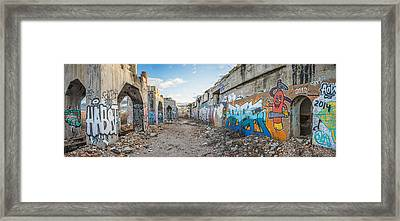 Framed Print featuring the photograph Illegal Art Museum by Steven Santamour