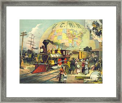Illinois Central Railroad 1882 Framed Print by Padre Art