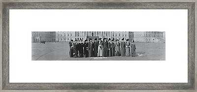 Illinois Delegation To Suffrage Framed Print