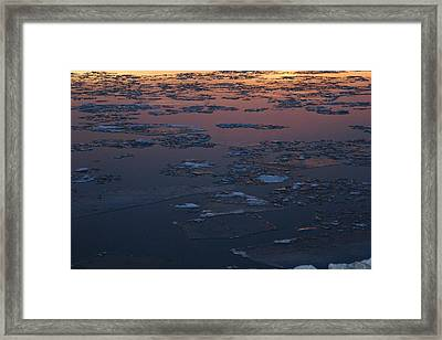 Illinois Floe Framed Print by Joe Bledsoe