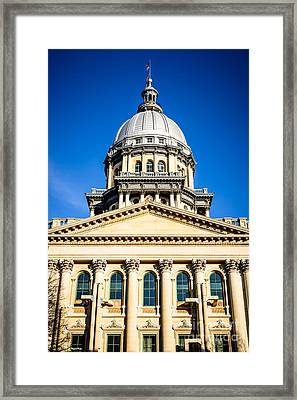 Illinois State Capitol In Springfield Framed Print by Paul Velgos