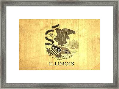 Illinois State Flag Barn Wall Framed Print