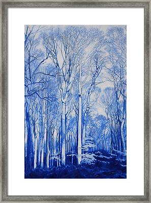 Framed Print featuring the painting Illuminated Arboretum by Andrew Danielsen