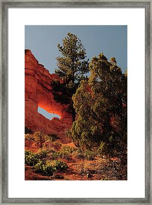 Illuminated Arch In Bryce Canyon Framed Print
