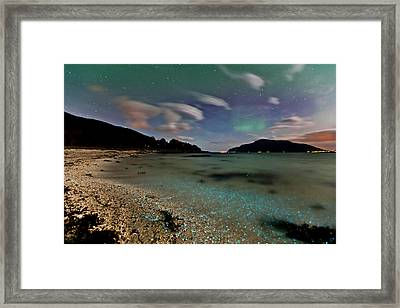 Illuminated Beach Framed Print