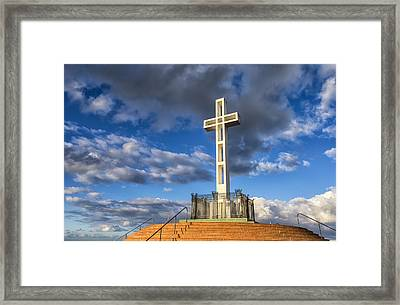 Illuminated Cross Framed Print