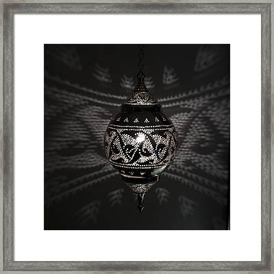 Illuminated Hanging Light Fixture Framed Print by Keith Levit