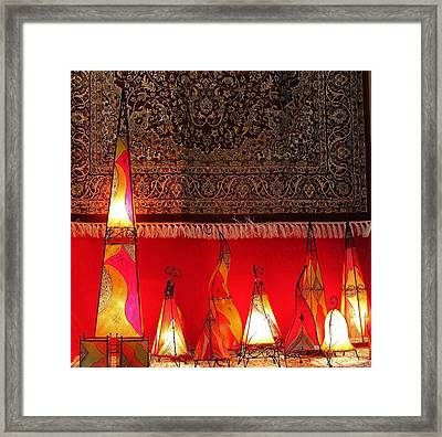 Illuminated Lights Framed Print