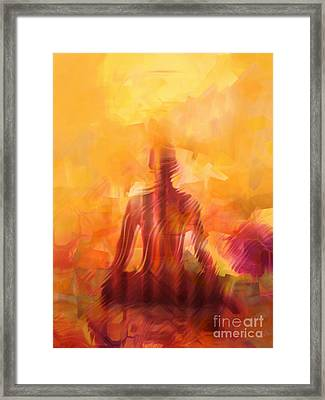 Illuminated Framed Print by Lutz Baar