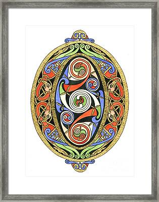 Illuminated O Framed Print by Cari Buziak