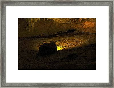 Illuminated Stalagmite Framed Print by Sandra Pena de Ortiz
