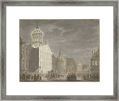 Illuminati Of The City Hall For William V And Wilhelmina Framed Print