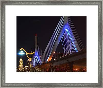 Illuminating Boston Framed Print