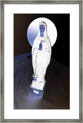 Illuminating  Punk Holy Mother Digital Framed Print by Golden Section