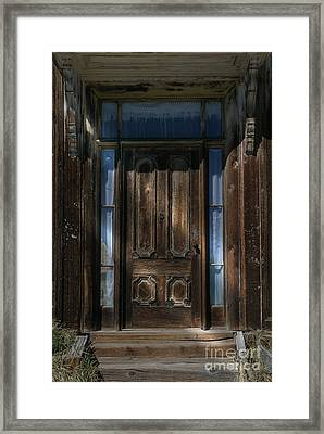 Illuminating The Past - Bodie Framed Print by Sandra Bronstein