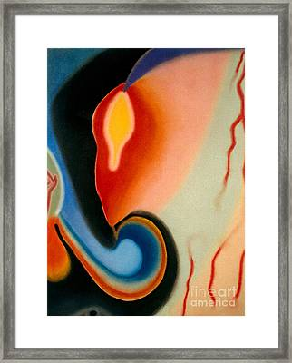 Framed Print featuring the pastel Illumination by Christine Perry