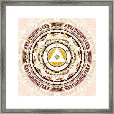 Illumination Circle Framed Print by Anastasiya Malakhova