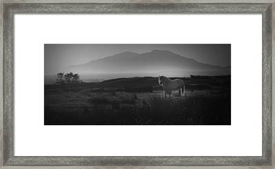 Framed Print featuring the photograph Illumination Isle Of Skye by Sally Ross
