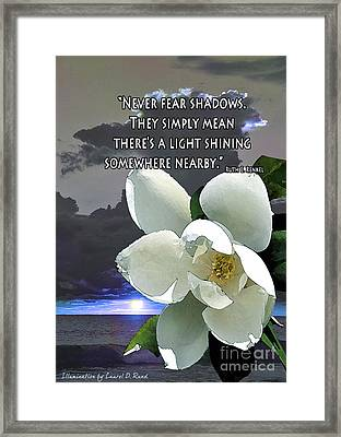 Illumination Quote Card Framed Print