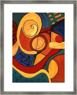 Framed Print featuring the painting Illuminatus 3 by Stephen Lucas