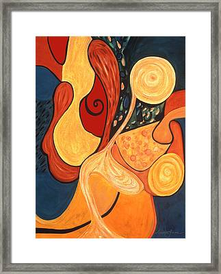 Framed Print featuring the painting Illuminatus 4 by Stephen Lucas