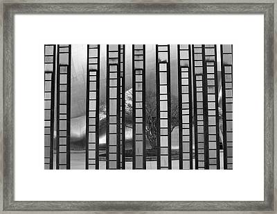 Illusion In Seattle Framed Print