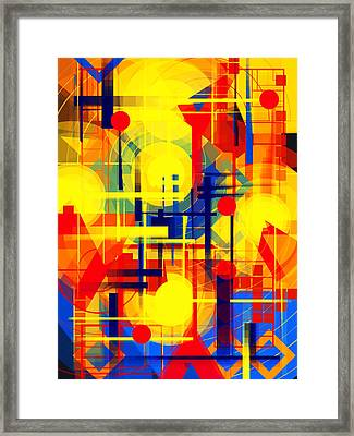 Illusion Of Night City Framed Print