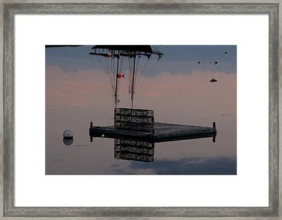 Illusion On The Ocean Framed Print by Donnie Freeman