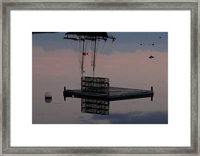 Illusion On The Ocean Framed Print