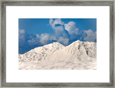Illusion. White Dunes Of Coral Sand Framed Print by Jenny Rainbow