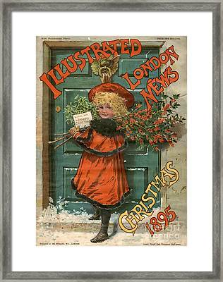Illustrated London News 1890s Uk Holly Framed Print by The Advertising Archives