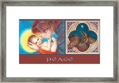 Illustrated Madonna And Child  Framed Print