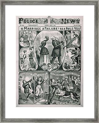 Illustrated Police News Framed Print