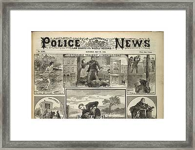 Illustrated Police News Front Page Framed Print by British Library