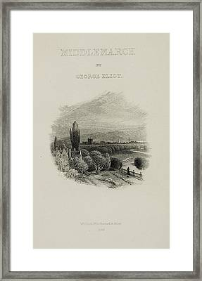 Illustrated Title Page Of Middlemarch Framed Print by British Library