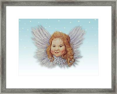 Illustrated Twinkling Angel Framed Print