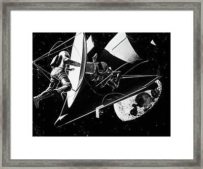 Illustration 1960s Weightless Framed Print