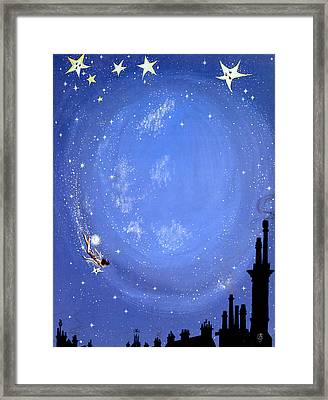 Illustration For Peter Pan By J M Barrie Framed Print by Anne Grahame Johnstone