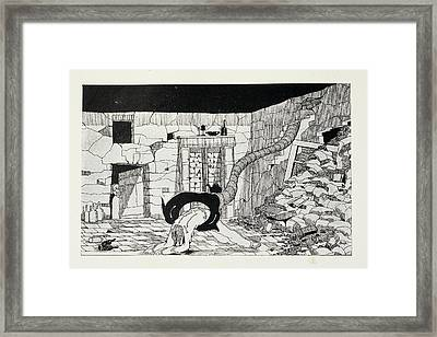 Illustration For 'the War Of The Worlds' Framed Print
