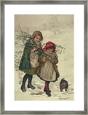 Illustration From Christmas Tree Fairy, Pub. 1886 Framed Print by Lizzie Mack
