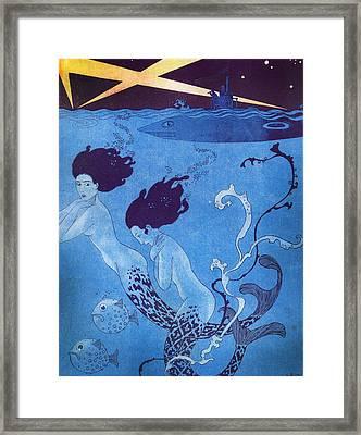 Illustration From 'la Baionnette' Framed Print by Georges Barbier