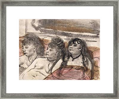 Illustration From La Maison Tellier Framed Print by Edgar Degas