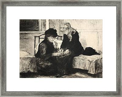 Illustration From La Rue A Londres Framed Print by Auguste Andre Lancon