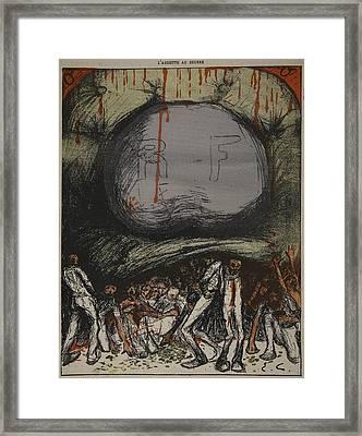 Illustration From Lassiette Au Beurre Framed Print by Eugene Cadel
