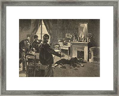 Illustration From Le Petit Journal Framed Print by French School