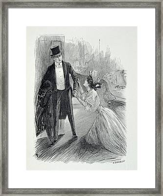 Illustration From The Picture Of Dorian Framed Print by Paul Thiriat