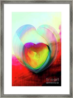 Illustration My Crazy Abstract Heart Framed Print by Linda Matlow
