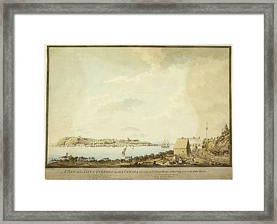 Illustration Of 18th Century Quebec Framed Print by British Library