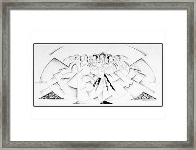 Illustration Of A Crowd Of Women Framed Print by John Barbour