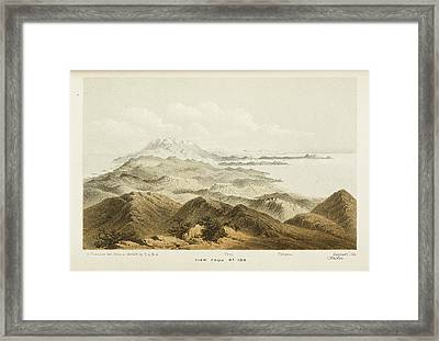 Illustration Of A Mountain Range In Crete Framed Print by British Library